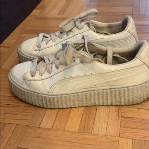 All white Fenty by puma creepers